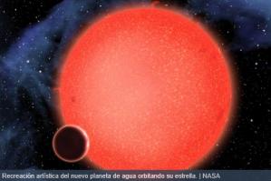 recreacion de GJ 1214B hecha por la nasa.....es curioso su parecido con niburu,el planeta rojo.